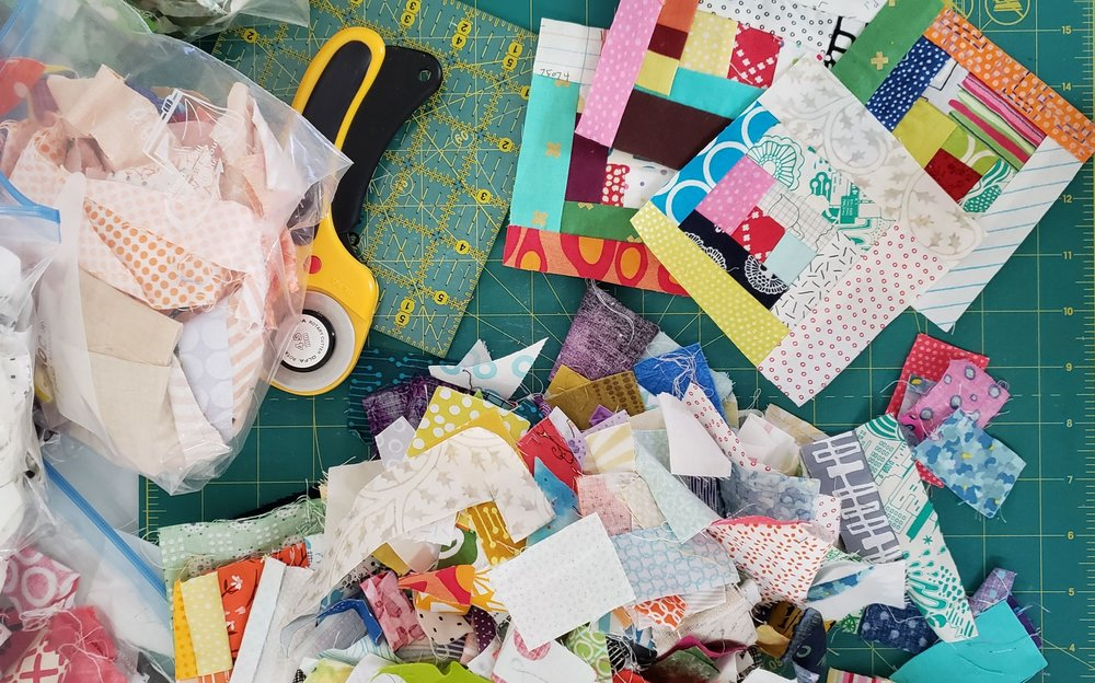 Scrap Quilts Under Construction
