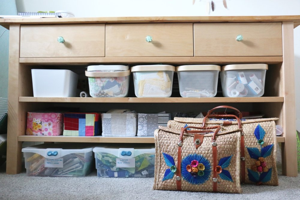 Sewing Room Cutting Table Scrap Storage
