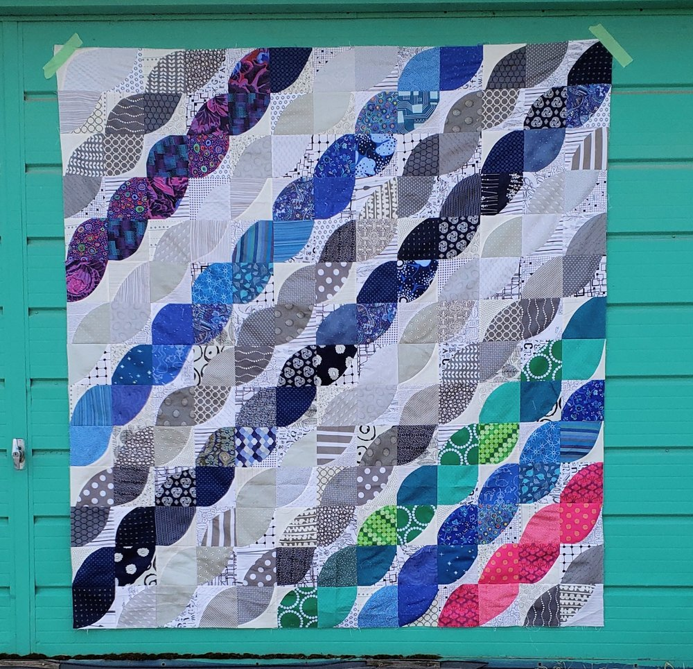Improv Curves Color Girl Quilts