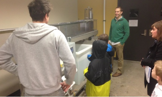 Missouri State University Civil Engineering students discussed flow in rivers