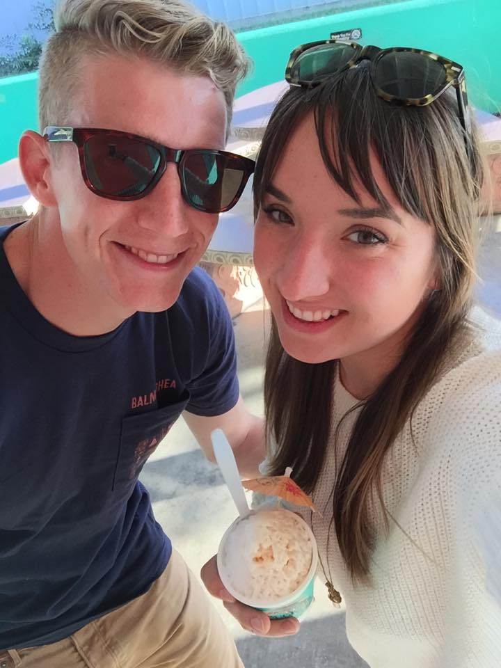 Please pardon the red-stained teeth. Jared ordered a strawberry cheesecake snow cone and I obviously snagged a bite. :)