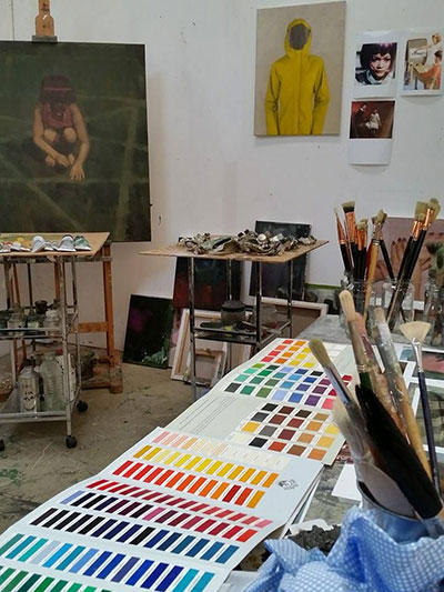 John Brennan's Studio at Magdalen Road Studios