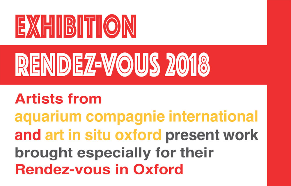 A meet up collaboration of international artists from the group Aquarium Compagnie.  The exhibition will be open to the public from Tuesday 10th until Saturday 14th July  Tuesday to Friday 3 - 6pm  Saturday 11 - 5   http://aquariumcompagnie.blogspot.co.uk/
