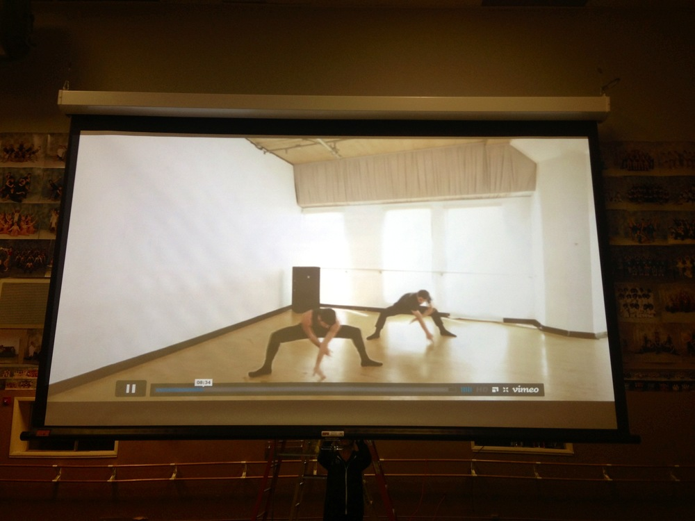 CLI Studios classes played for students on a Projector.