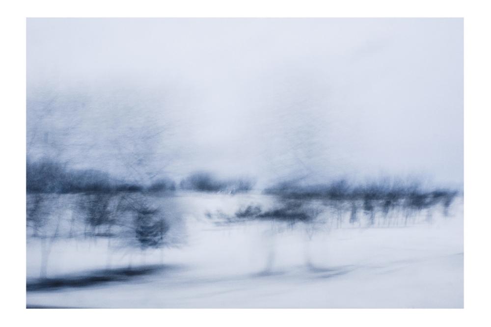"GABRIELA GARCIA-LUNA ,  Whitescape s-  Stroke , 2013. Pigment print on paper 26 1/4 in x 37 1/2"""