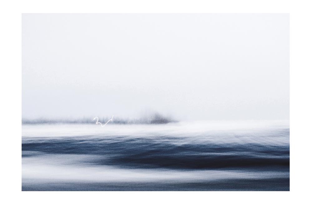 """GABRIELA GARCIA-LUNA ,  Whitescape s-  Track , 2012. Pigment print on paper 26 1/4 in x 37 1/2"""""""