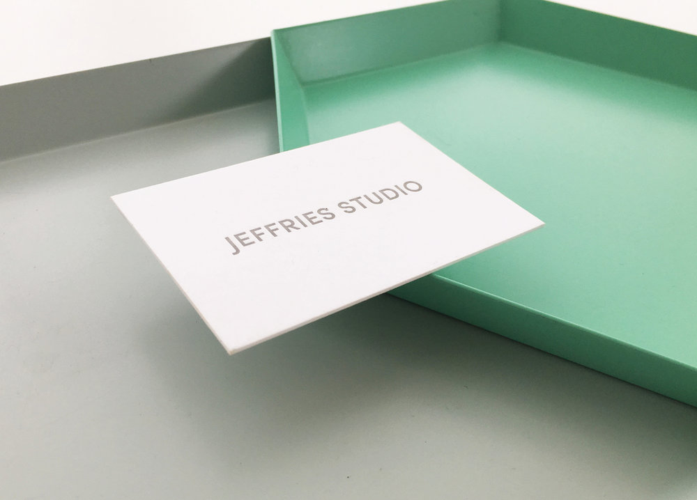 Identity, collateral & website for  Jeffries Studio