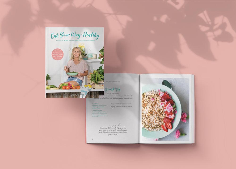 Recipe book design for  Naturopath to You