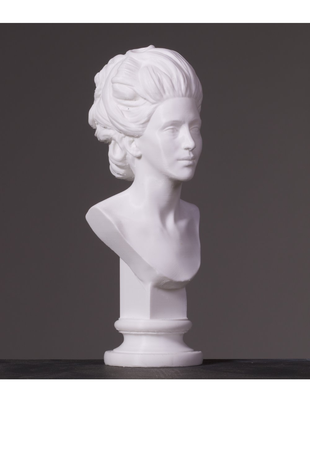 A Bust for Margaret Desenfans: The Forgotten Female Founder of the Dulwich Picture Galley, 2018  (collaboration with Joseph Steele)  Margaret Desenfans (1737-1814) or (1731-1814) was one of three founders of Dulwich Picture Gallery. In 1757, aged 20. In 1776, she married the art collector and dealer Noel Desenfans.[6] She, her French husband, and their friend Francis Bourgeois would eventually build up an art collection which became the basis of Dulwich Picture Gallery in London.  Despite playing a pivotal role in the creation of the gallery and collection, there is no bust of Margaret in the mausoleum where she is interred alongside her husband Noel Desenfans and Sir Peter Francis Bourgeois. Joseph Steele and I decided to start a project to create a marble bust of Margaret based on the only painting of her ever made, working with the Friends of the Dulwich Picture Gallery and gallery staff.