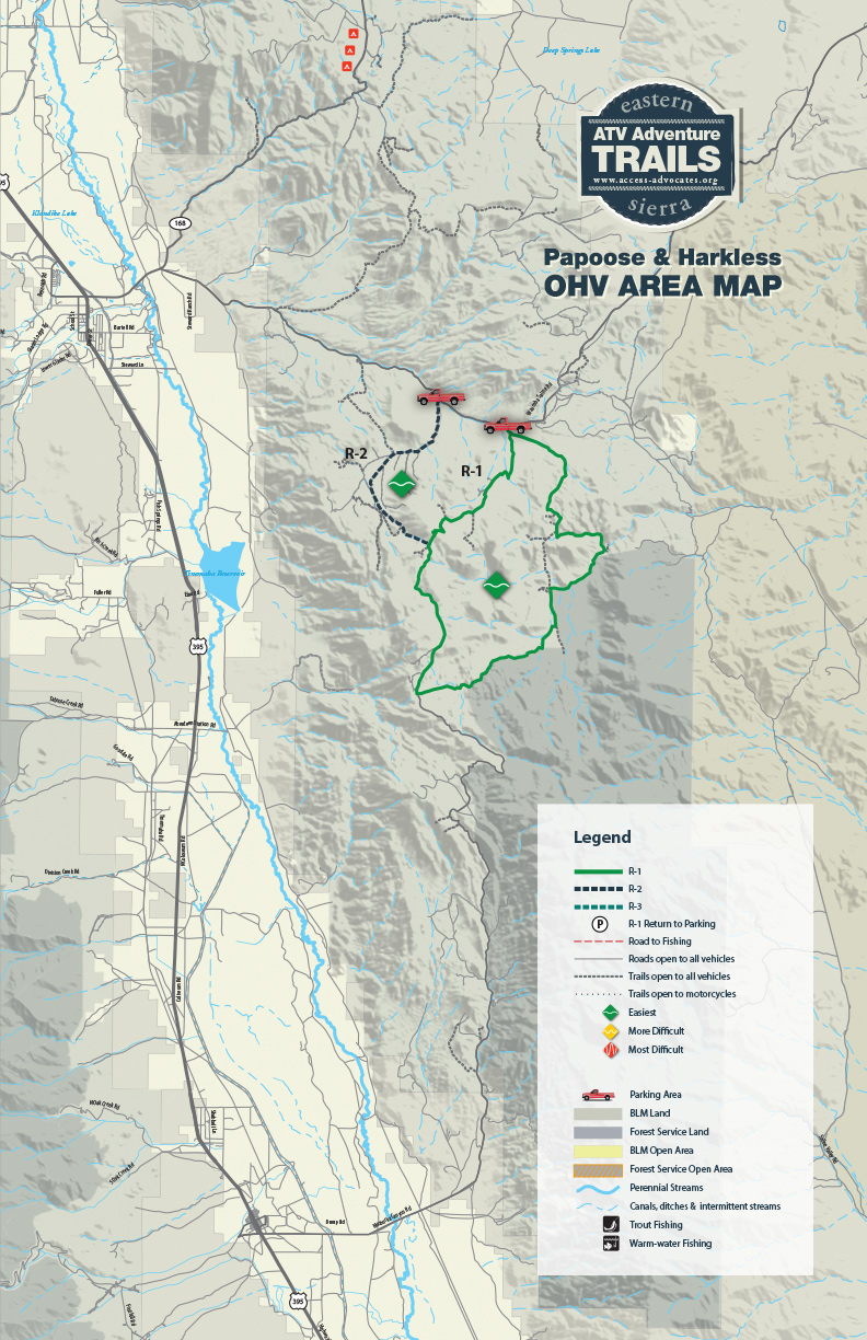 Papoose Harkless OHV Area Map