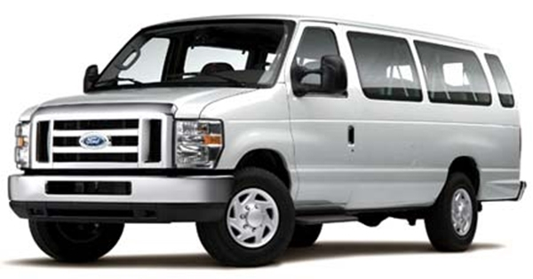 15 Passenger Pick-Up From Airport Drop-Off at Venue Van Rental Available Ride to Airport and Turn in Van