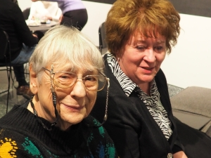 Helen Owens, video creator,  and Carol Fratangelo