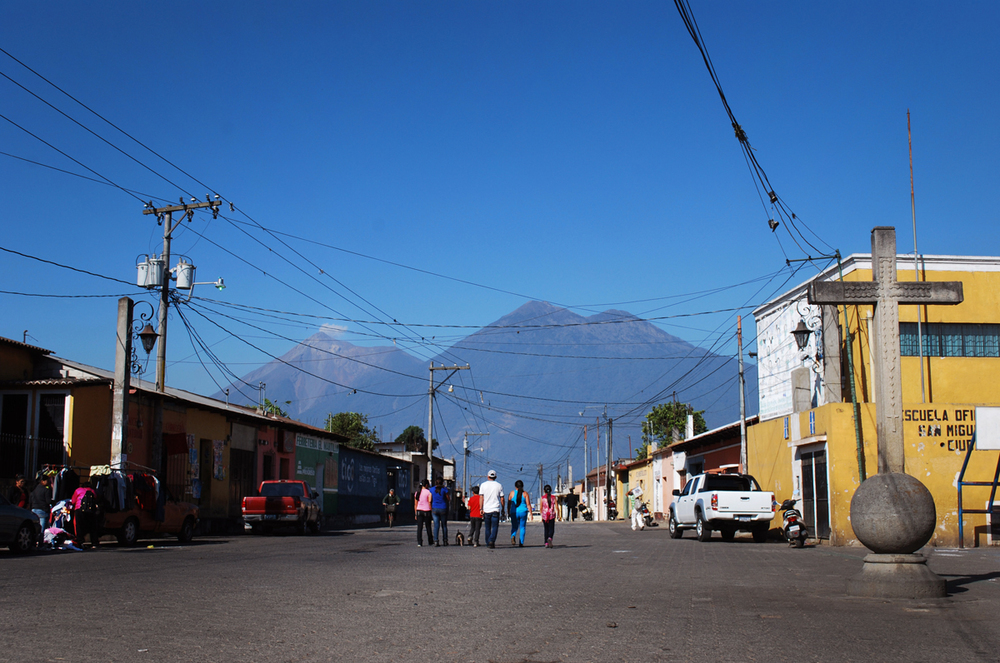 A view from the main square in San Miguel Escobar.