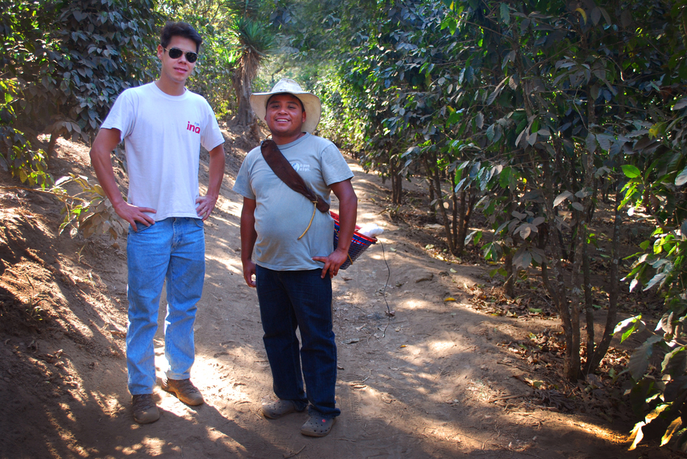 Francesco and Frederico en route to the coffee farm.