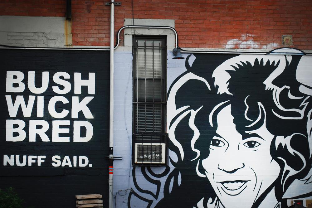 Mural by Bushwick-based artist Rah Crawford.