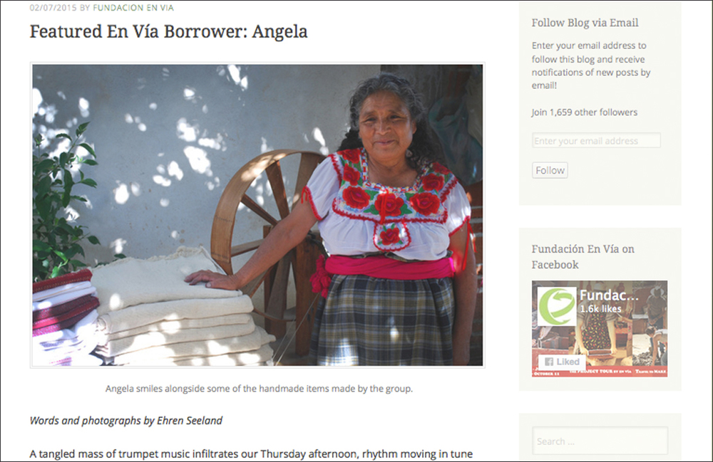 Writing and Photography - feature for Fundación En Vía, a non-profit organization that supports social and community development with the women of Oaxaca.