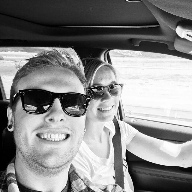 Road trippin' with ma bae. #cedarcityherewecome #babiesfirstredhead #babyjohn #jeepsfirstroadtrip