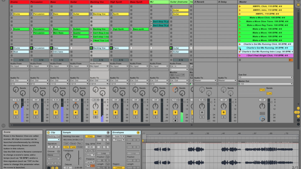 Ableton live scene clip view backing tracks tutorial
