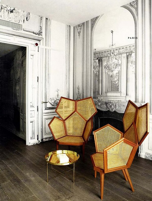 La Maison Hotel, Champs Elysees, Paris  - Gilded Lounge Suite. Image Via  Viacomit.net