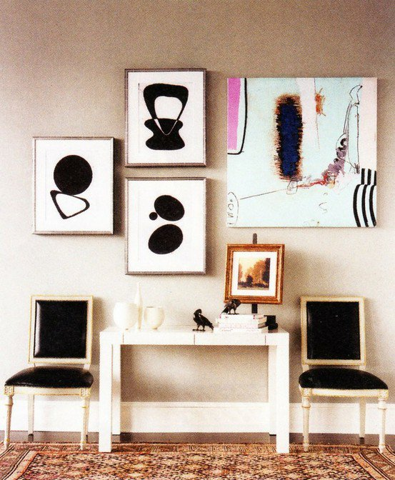 Patent Leather Louis Chairs via Pinterest.