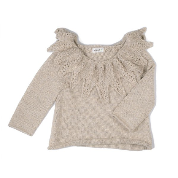 LEAF SWEATER-BEIGE