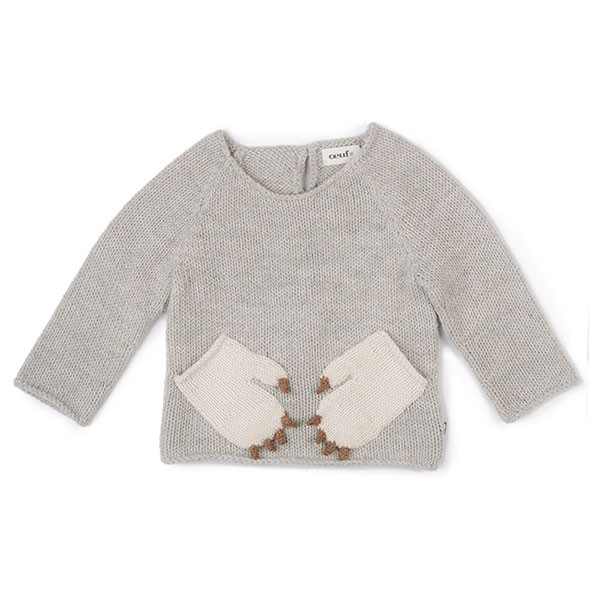 MONSTER SWEATER-BEIGE/LIGHT GREY
