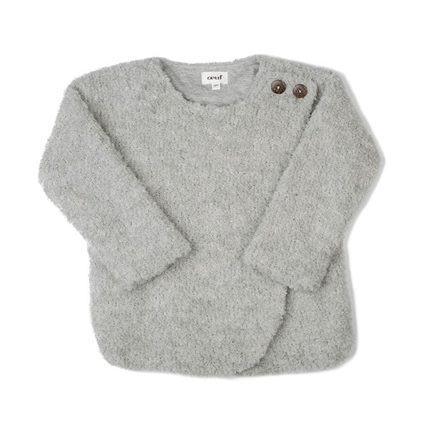 BOUCLE COAT-LIGHT GREY