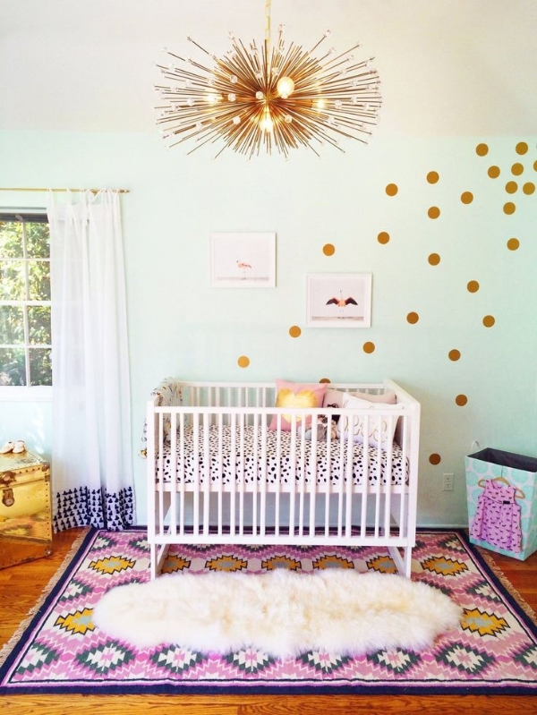 Ruby's Gorgeously Glam Nursery via apArtment therapy