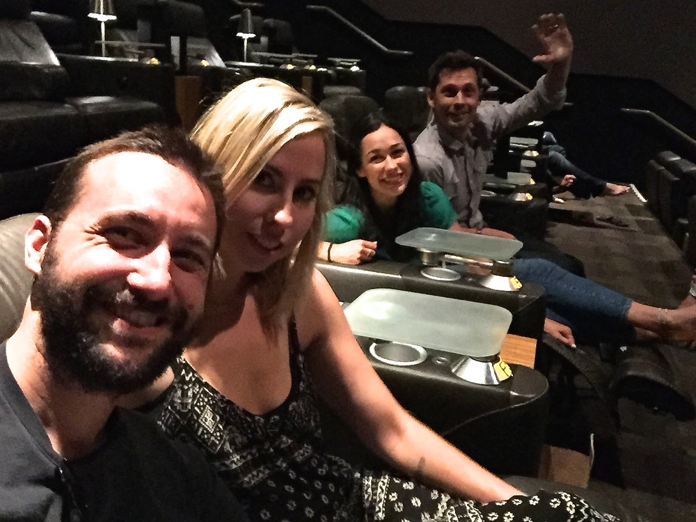 Double-date night seeing Mission Impossible: Rogue Nation, with our good pals Brandon and Rachelle.