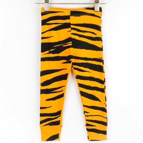 mini rodini organic tiger stripes leggings