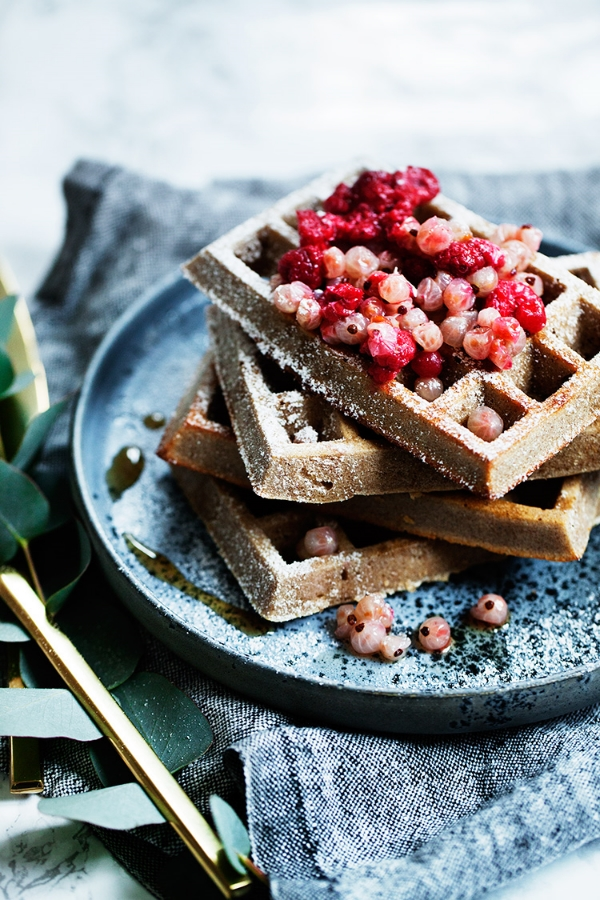 gluten, sugar and dairy free buckwheat waffles via modern wifestyle