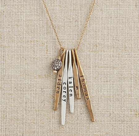 Holiday gift picks from rachelle wood twink sis for your mom restoration hardware baby personalized necklace who would have thought that rh baby would have the best selection of these trendy name negle Image collections
