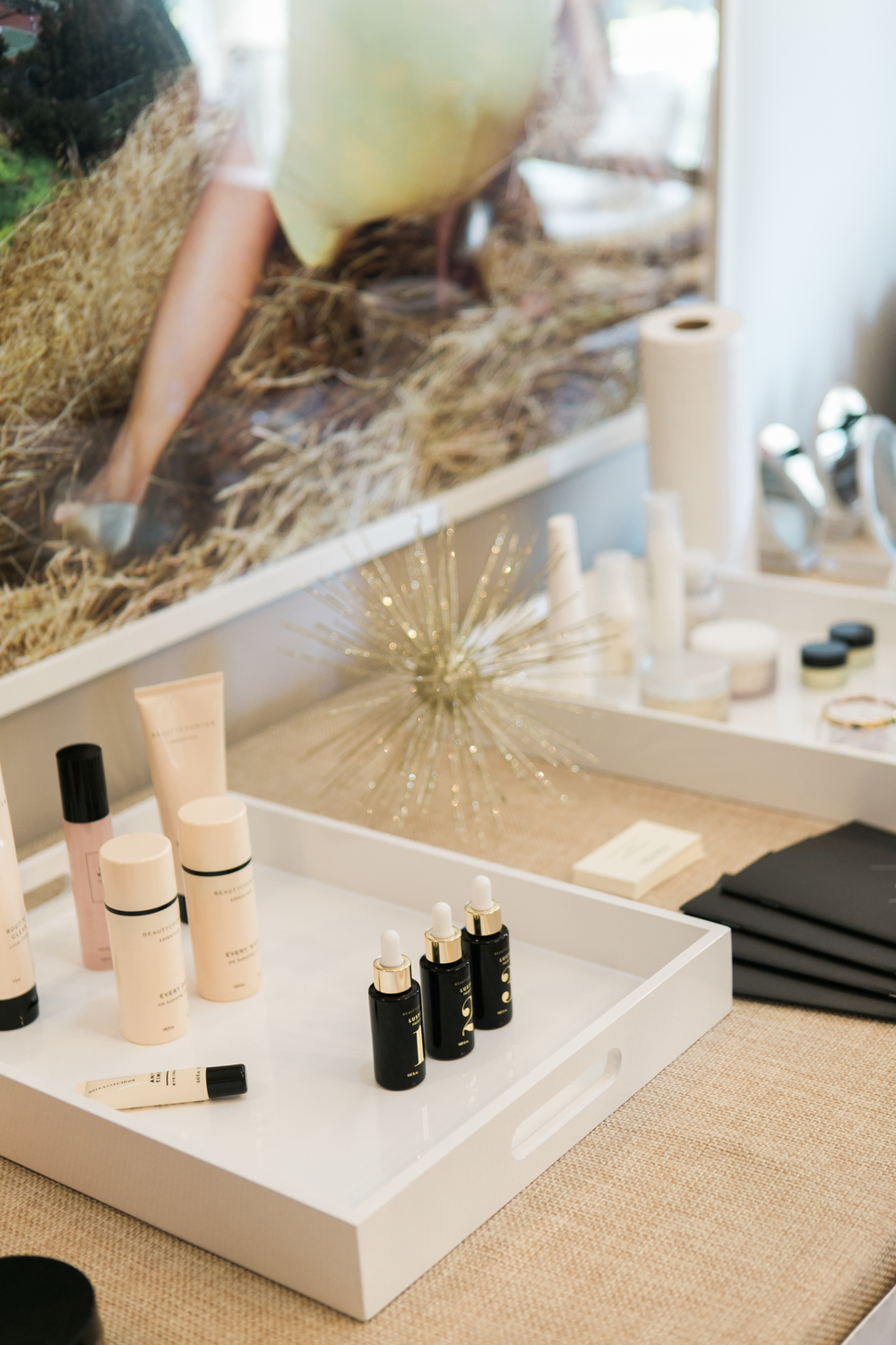 Beauty Counter. Photo by Jenna Elliott of One Eleven Photography