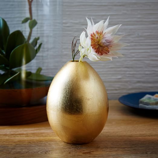 Gilded Egg Vase from West Elm