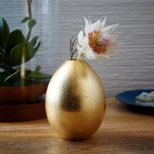 Gilded Egg Vase from West Elm