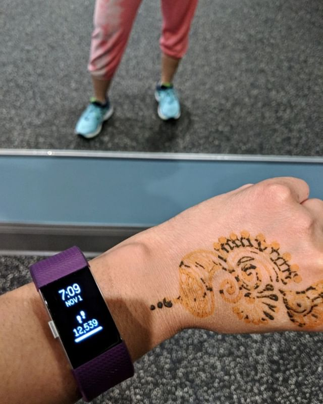 Working out with a tattoo today.  #mehndi #henna #earlydiwali #dotloop #zglife #bestplacetowork #exercise #workout #hiitcardio #eatclean #workhard #realhealthcare #naturalantidepressant #healnaturally #loveyourself #loveyourbody #sohamwellness