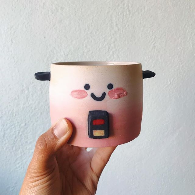 New colorful rice cooker pots for #RCCC in Portland. Find me in artist alley K-07 this weekend! 👋🏽 I've been getting a lot of inquiries regarding the rice cooker pots. They take a LONG time to make so pleaaaase be patient. I will post when they're available online or at events.