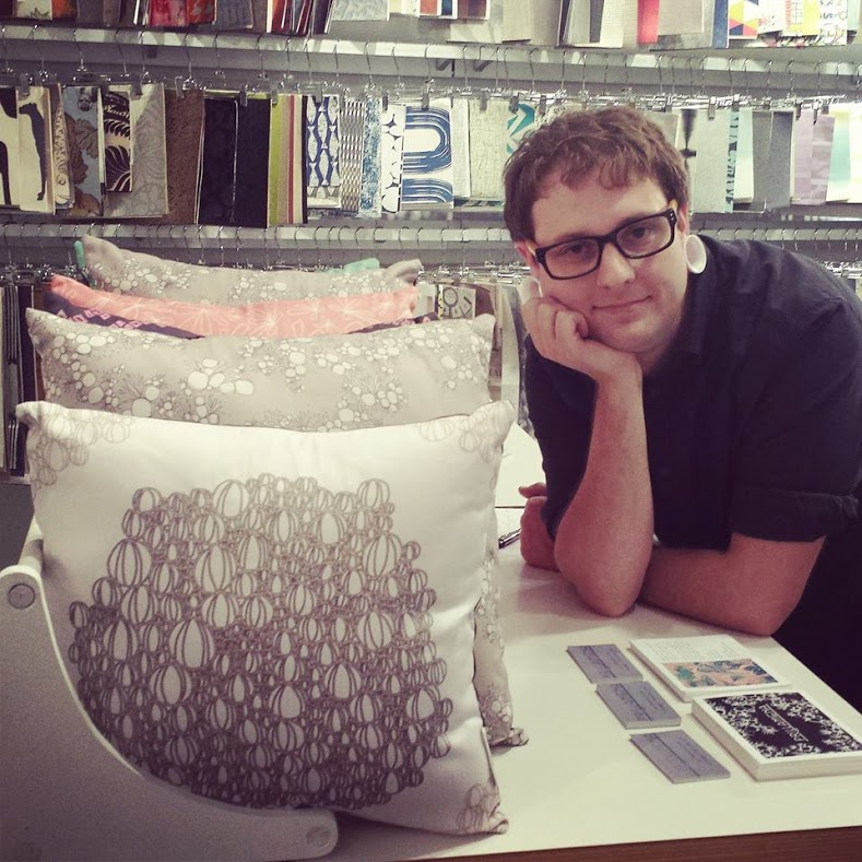 Tyler with our pillow display