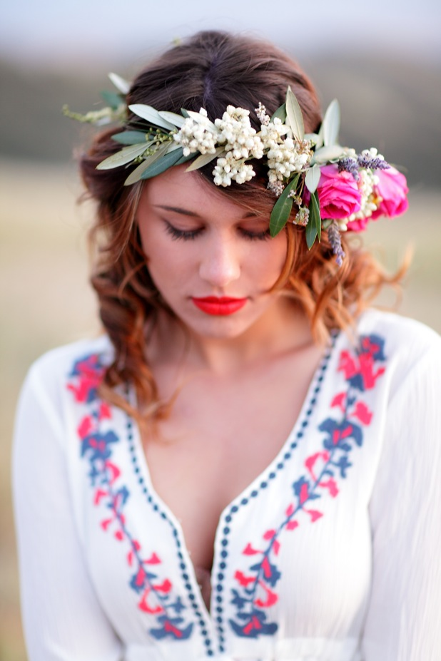 Flower Crown with wildflowers