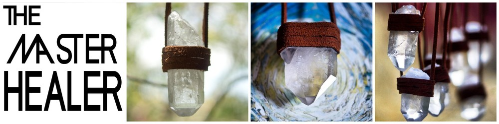Lesson 5 features a Crystal Quartz point and a leather wrap.