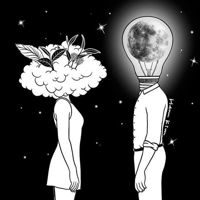 """Day Dreamer Meets Night Thinker"" by @henn_kim 🌚"