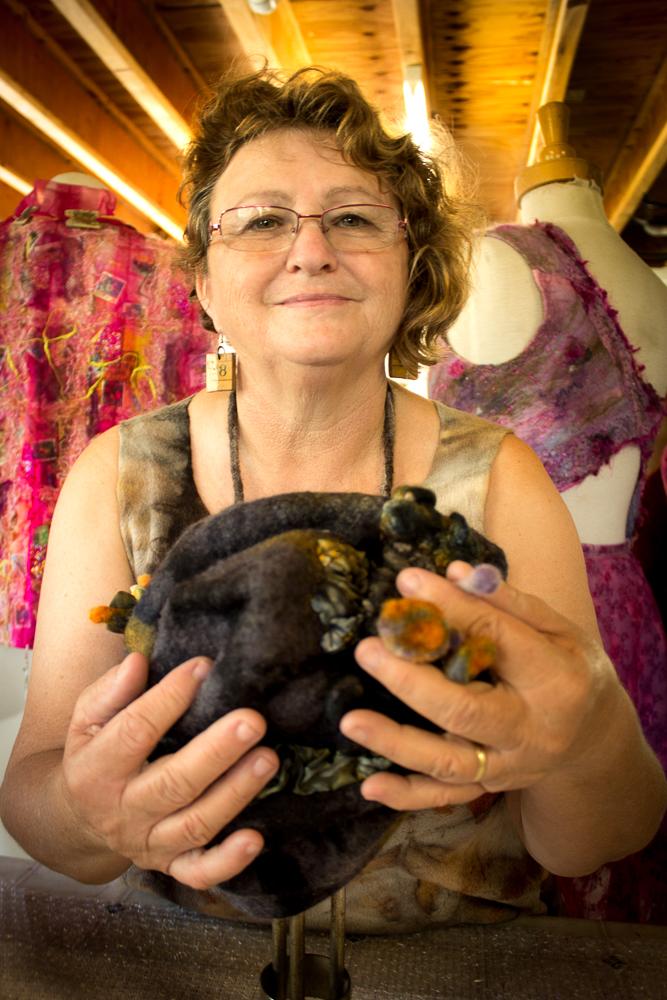 Rhonda Rettke felt Textile and mixed media artist