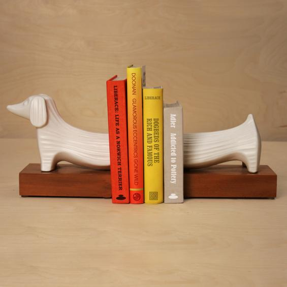 Ceramic Dachshund Bookends
