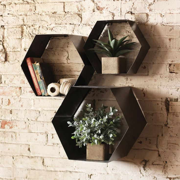 Hexagon Wall Cubbies at  Dot & Bo