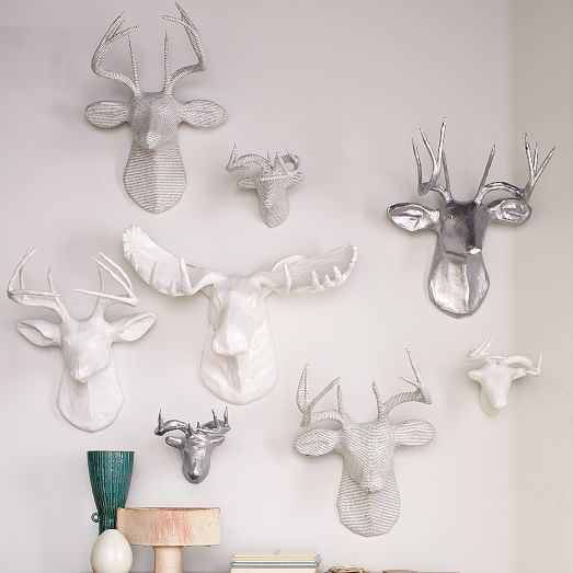 Papier-Mache Animal Sculptures at  West Elm
