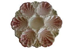 Majolica Oyster Wall Plate at  One Kings Lane