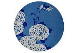 Blue Asian Botanical Wall Plate at  One Kings Lane