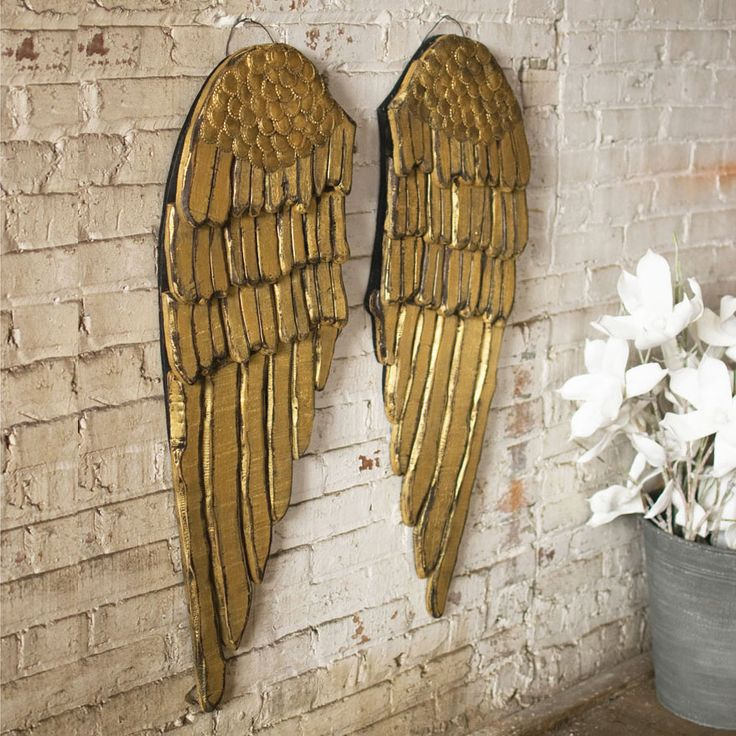Gold Wings  Wall Plaque at  Dot & Bo
