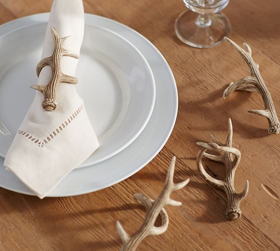 Pottery Barn  Antler Napkin Rings