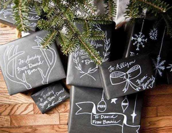 Chalkboard-like wrappings at  Woo Home